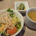 maroon cafe - サラダ&スープ&小鉢