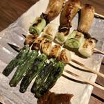 大樹 - 野菜串盛り