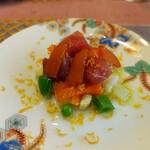 リストランテ小林 - サーモンとマグロのカルパッチョ