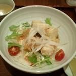 neko - 【初回】海の幸のふんわりフリッター レモンマヨソース丼(840円)スープ・ほうじ茶プリン付き。