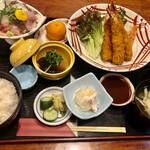 Banshou - 海老フライ定食 1,800円