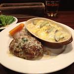 Roti - 茄子ドリア&ハンバーグ(特製マヨソース)