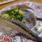 回転寿司 やまと - 青魚三貫(363円)