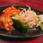 焼肉 芝浦 - ナムル、キムチ