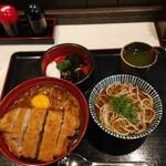 そば宏 - カツカレー丼大盛り丼ぶり定食