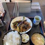えのもと食堂 - 料理写真:肉なす炒め定食