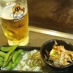 道とん堀 - 生ビールセット