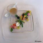 シェムラブルリス - Crème de champignons aux petit legumes et saumon