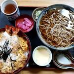 そば処 神田 - 海老とじ丼セット