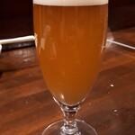 炭火焼鳥 風 - 南横浜ビール研究所のビール(グラス)