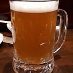 炭火焼鳥 風 - 南横浜ビール研究所のビール(ジョッキ)