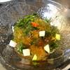 利久庵 - 料理写真:生海苔琥珀ぜりー 長いもと胡瓜