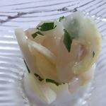 アル・ケッチァーノ - スズキ。セロリとレモンで。美味しい。