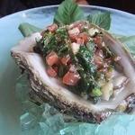 アル・ケッチァーノ - 同じソース。連れは天然岩牡蛎で。