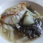 アル・ケッチァーノ - 甘鯛とおかひじきのスープ セロリはいってます 甘鯛が美味しい