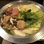 水炊き・焼鳥・鶏餃子 とりいちず - 水炊きです。