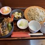 蕎楽房 一邑 - おすすめランチ小天丼お蕎麦大盛
