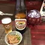 居酒屋丸十 - 料理写真:まずはビールで、