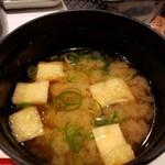 芦屋天がゆ - 味噌汁