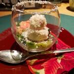 懐石カフェ 蛙吉 - 料理写真:蟹ムースのスノードーム風