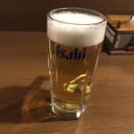 一徹 - 生ビール(550円税別)