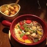 Cafe Xando - エビとホタテと野菜のオイル煮♡