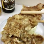 千曲食堂 - 肉天ぷら400円