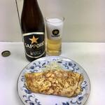 千曲食堂 - 瓶ビール500円、玉子焼350円