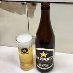 千曲食堂 - 瓶ビール500円
