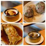 ロ岩ロ岩好・アムアムホウ - ・野菜と海老 湯葉巻きオイスターソース煮 ・揚げ湯葉と牛肉団子の蒸し物
