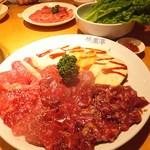 韓食苑 恭楽亭 - カルビ、ロース、野菜、サンチュ