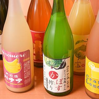 日本酒カクテルや焼酎ハイボール、果実酒など豊富なドリンク♪