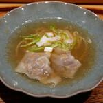 肉割烹 上 - ☆塩ラーメン牛肉雲吞(^O^)/☆