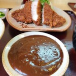 142835412 - 大味噌とんかつ定食(みそ別添え)