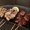 Tokkinzan - 料理写真:皮、もも黒胡椒、レバー