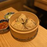 Sushiebisu - 海老酢で食べる小籠包