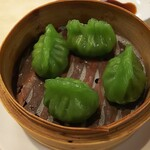 Keitokuchin - ほうれん草エビ蒸し餃子