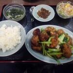 順香 - 揚げた豚肉と長芋の中国東北風炒め