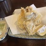 そば処 みのり - 牡蠣の天ぷら