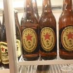 中村屋 - 赤星の初代復刻ラベル瓶ビールはオブジェで飲むことが出来ませんでした