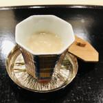 よし澤 - 栗の出汁 出汁と塩 牛乳