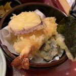 142851217 - 天盛り(えび、茄子、サツマイモ、海苔)