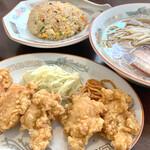 松園 - 料理写真:月曜日替ライス抜きにチャーハン
