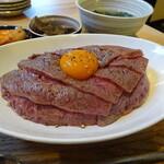 142853590 - 和牛レアステーキ丼