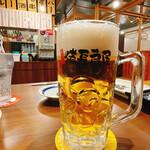 やきとりの扇屋 - 生ビール