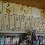 埼玉屋食堂 - 店内のメニュー 2012-8-7
