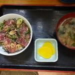 埼玉屋食堂 - ミニまぐろ丼 \500