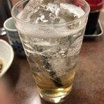 三ちゃん食堂 - 梅酒ソーダ割り