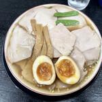 142873153 - 『煮卵入りチャーシューもも肉そば(並)』様(950円)