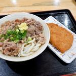 エコぽん太 - 肉ぶっかけ冷と、チキンカツ